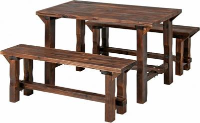 2019人気No.1の ガーデンテーブル・ガーデンベンチセット/ 焼杉テーブル&ベンチセット SD09-1566 ナチュラル(81762)【F-81762】:エコノミーオフィス-オフィス家具, ドレスのpiashop:f1f1db7c --- xetulai24h.com