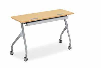 コクヨ 会議用テーブル エピファイ 会議用テーブル 天板フラップ式 配線キャップなし パネル付き 直線タイプ 幅1200×奥行き450×高さ720mm【KT-PS1004】