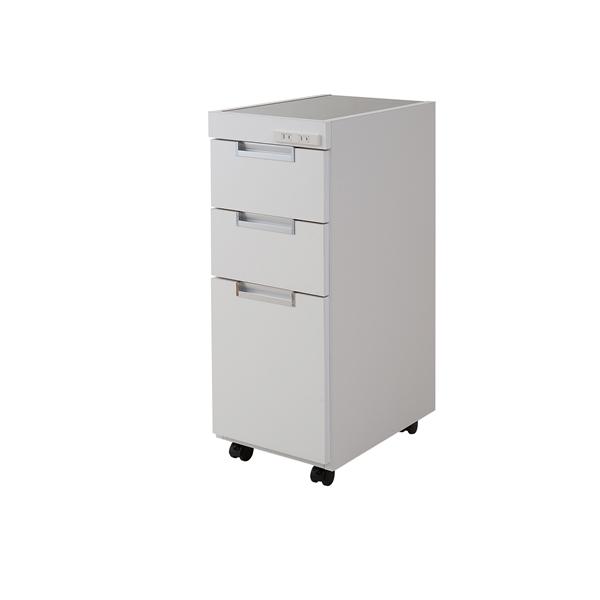 すきま収納 キッチンカウンター 幅25.5cm (ホワイト色)  【NSA-NO-0037】