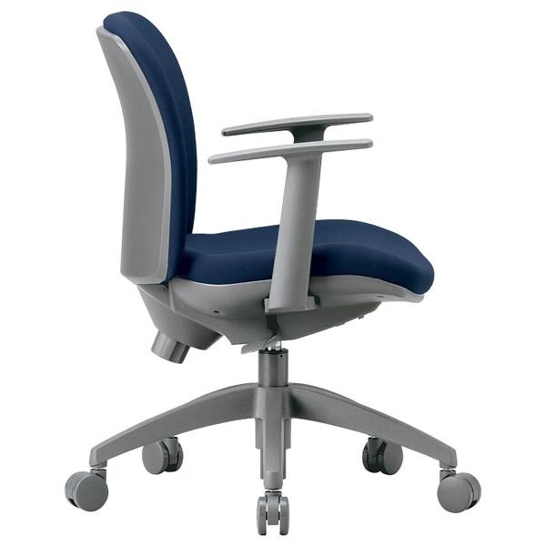 3Dフォーム・オフィスチェア(T型肘付タイプ・ビニールレザー張り)【OA-2115TJ-VG1】