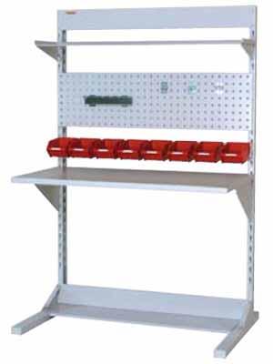 ラインテーブル 間口1200サイズ 両面・連結用 幅1193×奥行き1275×高さ1885mm【YAMA-HRR-1218R-TPY】