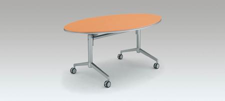 コクヨ 会議 ミーティング用テーブル アットラボ フラップテーブル 高さ720mm 楕円形【MT-K205NN】