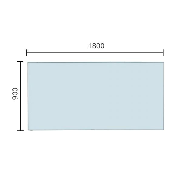 軽量タイプNシリーズ 壁掛無地ホワイトボード スチール 1800×900mm【NV36】