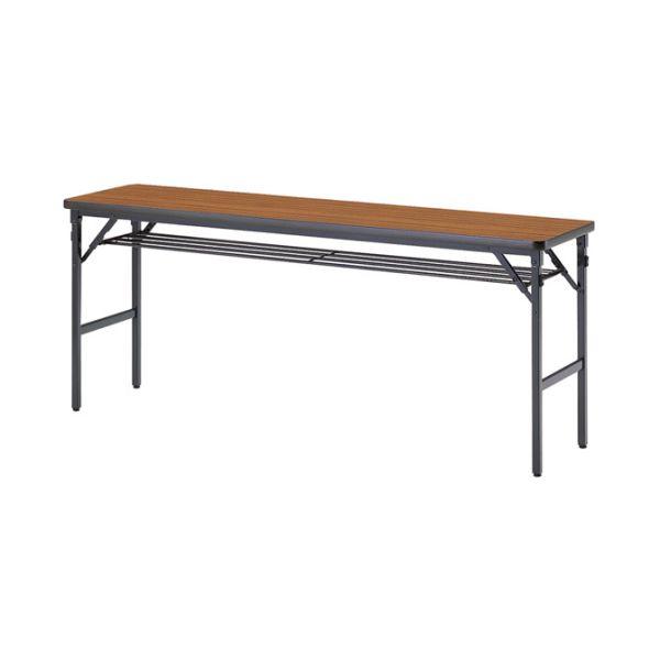 ミーティングテーブル 60-T チーク 幅1800×奥行き600×高さ700mm【1-385-1097】