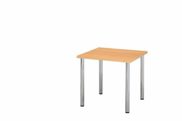 ミーティングテーブル 幅900×奥行900mm ナチュラル 【国産】【YMT-9090-NA】