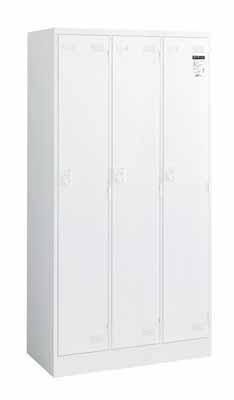コクヨ LKロッカー ダイヤル錠タイプ 3人用ロッカー 幅900×奥行き515×高さ1790mm【LK-DN3SAWN】