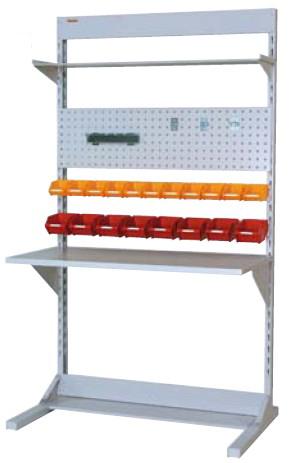 ラインテーブル 間口1200サイズ 両面・連結用 幅1193×奥行き1275×高さ2125mm【YAMA-HRR-1221R-TPY】