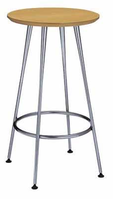 コクヨ イートイン シリーズ テーブル リフレッシュテーブル 4本脚 高さ1000mmタイプ 天板寸法 直径600 突板 メッキ脚【LT-M337T72】