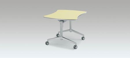 コクヨ 会議 ミーティング用テーブル アットラボ フラップテーブル 高さ720mm リボン形【MT-K206NN】