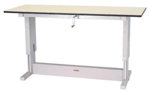 ワークテーブル 昇降タイプ メラミン天板 幅1800×奥行き900×高さ700~1050mm【YAMA-SSM-1890N】