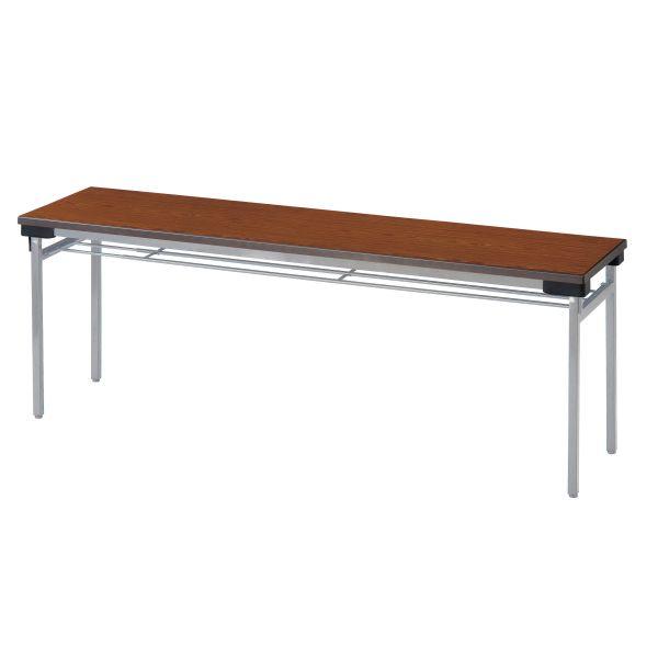 薄型折畳み会議テーブル(一体成型天板)棚無 国産品 幅1800×奥行600mm【STO-1860】