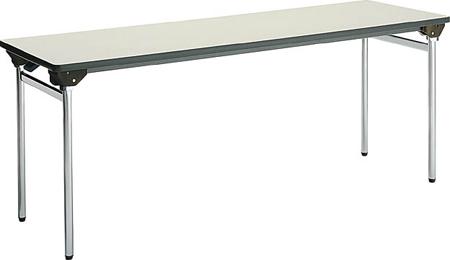 コクヨ 折りたたみ机(長机) KT-500シリーズ 丸脚メッキ 棚付き 幅1800×奥行き600mm【KT-ES501N】