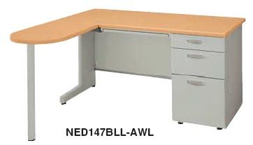 事務用デスク NED型 L型デスク 片デスクタイプ 幅1600mm【NED167BLL】