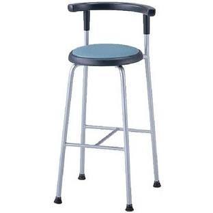 ノーリツイス 丸椅子 座固定背付スツール 座直径360mm 布張り【R-540C】