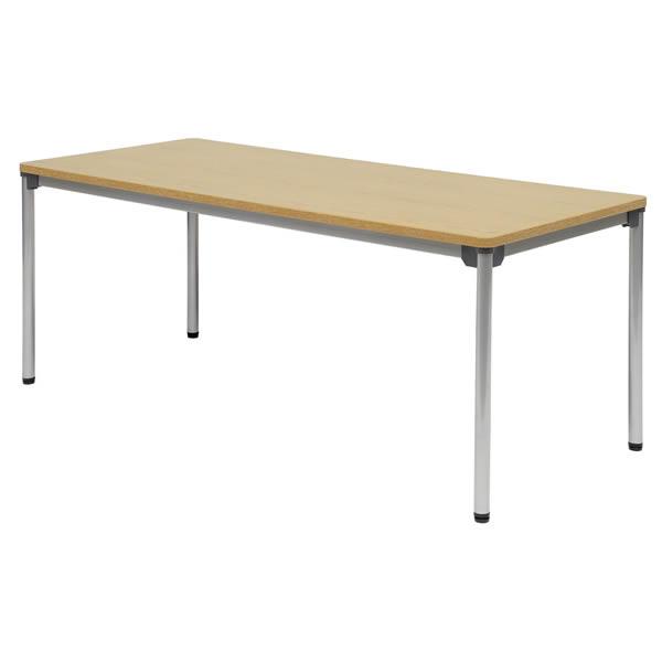ミーティングテーブル・会議テーブル/ ASテーブル 【幅1800×奥行き750mm・棚なし】【AS-1875-M1】
