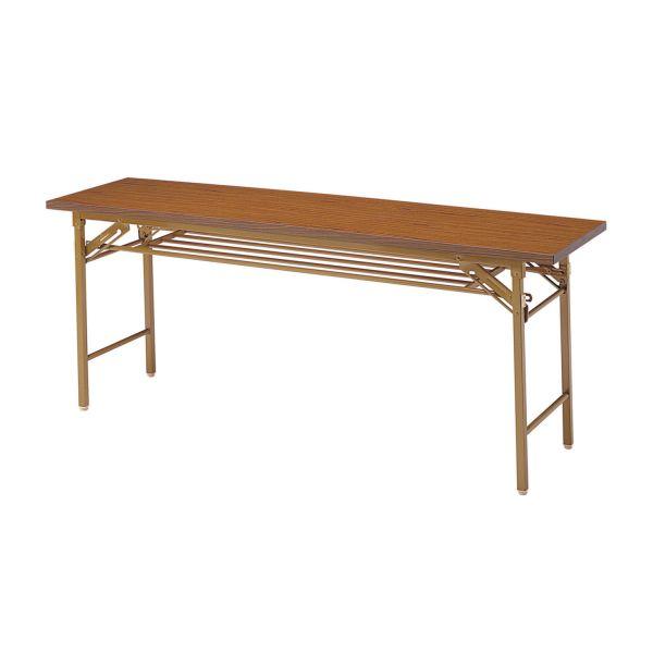 折畳み会議テーブル 共張り 幅1500×奥行450mm 国産品【YKT-1545】