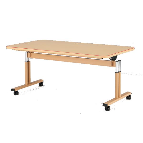 【福祉関連】介護用テーブル 天板昇降 幅1600×奥行900×高さ660mm~800mm【MAT-1690】