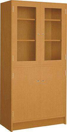 コクヨ 役員室用家具 マネージメント70シリーズ 両開き書棚 上段扉木枠付きガラスタイプ【MG-7GKNN】