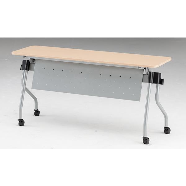 フォールディングテーブル パネル付き 幅1500mm×奥行450mm×高さ720mm【NTA-N1545P】
