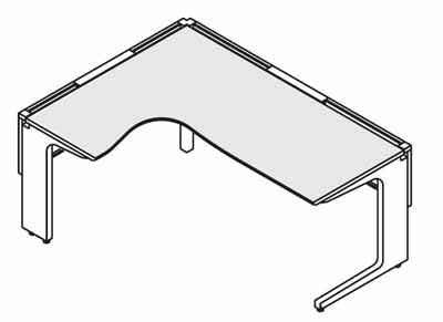 コクヨ レヴィスト デスクシステム パーソナルテーブル L型テーブル L側 幅1500×奥行き1500mm【SD-LVLL1515L】