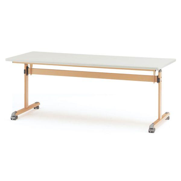 センターフラップテーブル MTSシリーズ 棚無 脚部ナチュラル 幅1800×奥行750×高さ700mm【MTS-1875B】