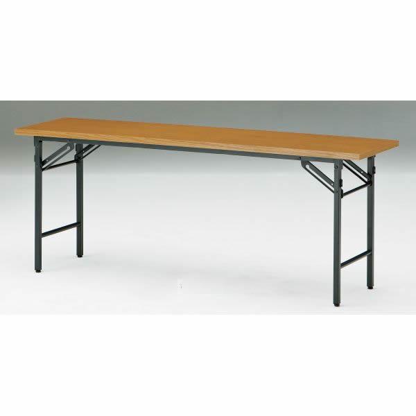 折り畳みテーブル Tシリーズ 棚無・パネル無 幅1500×奥行750×高さ700mm【T-1575N】