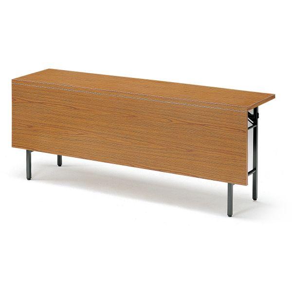 折り畳みテーブル Tシリーズ 棚付・パネル付き 幅1500×奥行600×高さ700mm【T-1560P】