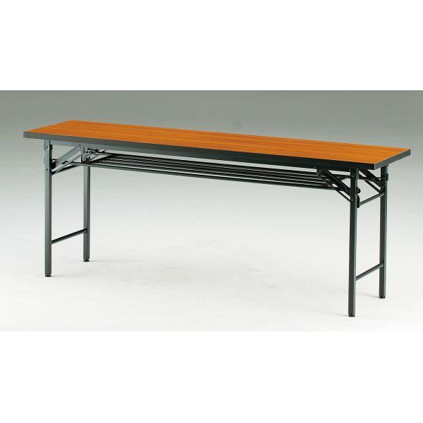 折り畳みテーブル TCTシリーズ スライド式 幅1800×奥行450×高さ700mm【TCT-1845】