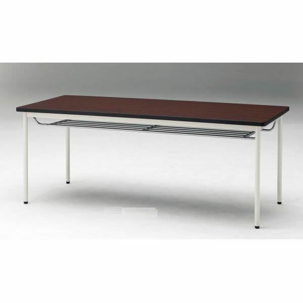 ミーティングテーブル TD-Tシリーズ 共貼りタイプ  棚付き 幅1200×奥行750×高さ700mm【TD-T1275TM】