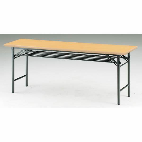 折り畳みテーブル TSシリーズ 棚付 パネル無 幅1800×奥行900×高さ700mm【TS-1890】