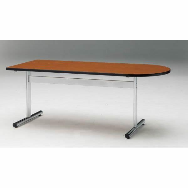 ミーティングテーブル TTシリーズ 半楕円形 幅1800×奥行900×高さ700mm【TT-1890US】