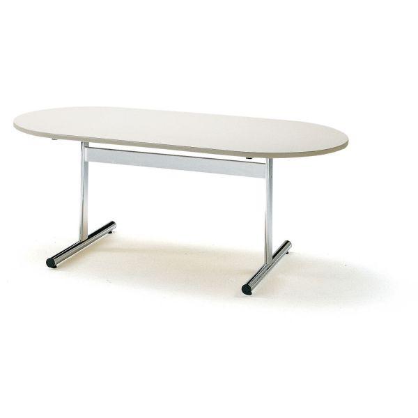 ミーティングテーブル TTシリーズ 楕円形 幅1800×奥行900×高さ700mm【TT-1890RS】