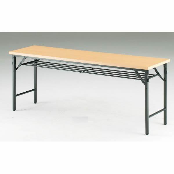 折り畳みテーブル TWシリーズ 棚付 幅1200×奥行450×高さ700mm【TW-1245T】