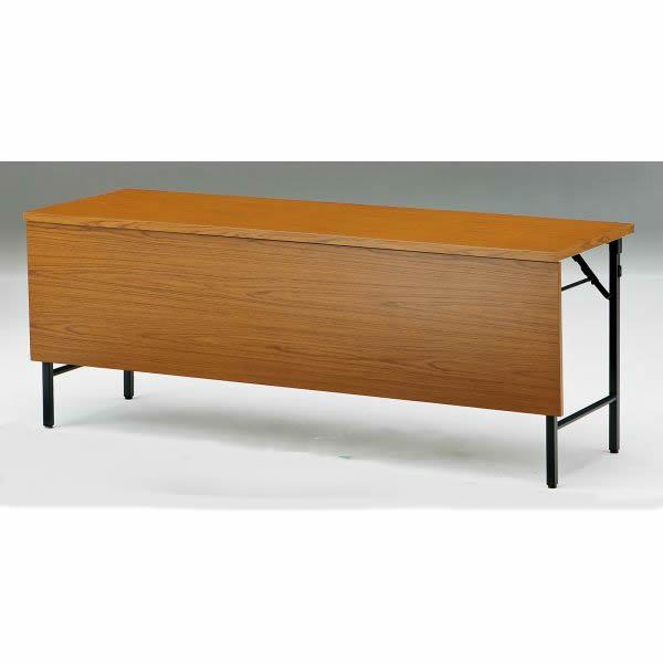 折り畳みテーブル TWシリーズ 棚無 パネル付 幅1800×奥行450×高さ700mm【TW-1845PTN】