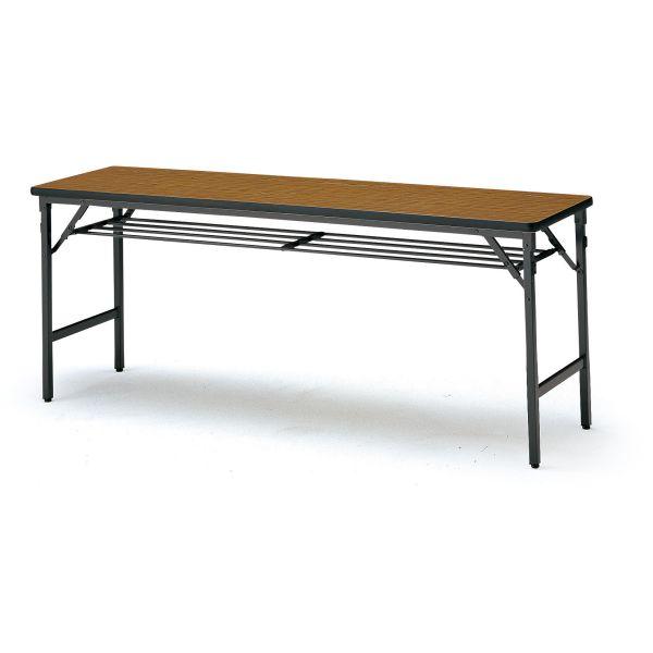 折り畳みテーブル TWSシリーズ 棚付 ソフトエッジ 幅1200×奥行900×高さ700mm【TWS-1290T】