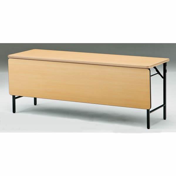 折り畳みテーブル TWSシリーズ 棚無 パネル付 ソフトエッジ 幅1800×奥行600×高さ700mm【TWS-1860PTN】