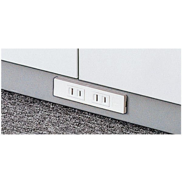 L6 オプション コンセント付ベース 幅900×奥行340mm用 (648-616)【L6-B11WC】
