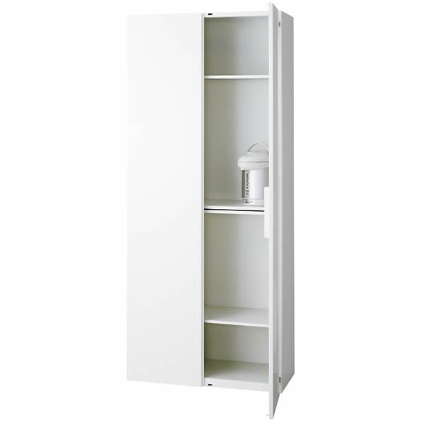 L6 キッチンユニット 幅900×奥行450×高さ2100mm 下置き 可動式棚板3枚 (648-497)【L6-210KU】
