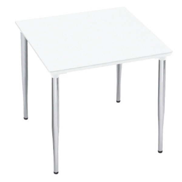 XMテーブル 高さ720タイプ/配線孔なし 幅750×奥行750mm 脚カラー(メッキ)【XM-077PSHP】