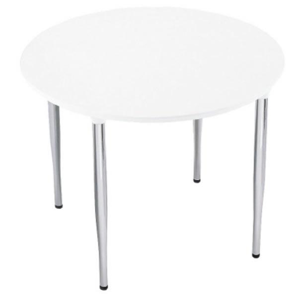 XMテーブル 高さ720タイプ/配線孔なし 幅900×奥行900mm 脚カラー(メッキ)【XM-090PSHP】