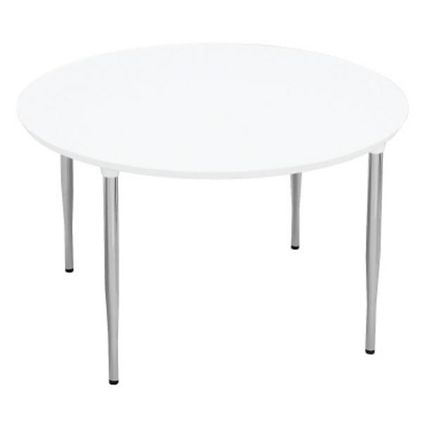 XMテーブル 高さ720タイプ/配線孔なし 幅1200×奥行1200mm 脚カラー(シルバー)【XM-120PSHM4】