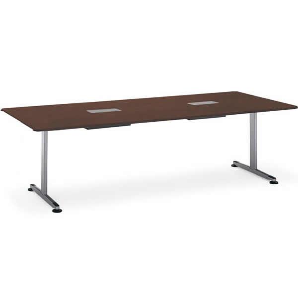 コクヨ アリーナT(ALINA/T) 会議用テーブル T字脚 角型 配線ボックス付き 幅2100×奥行1050mm【MT-BMT211B】