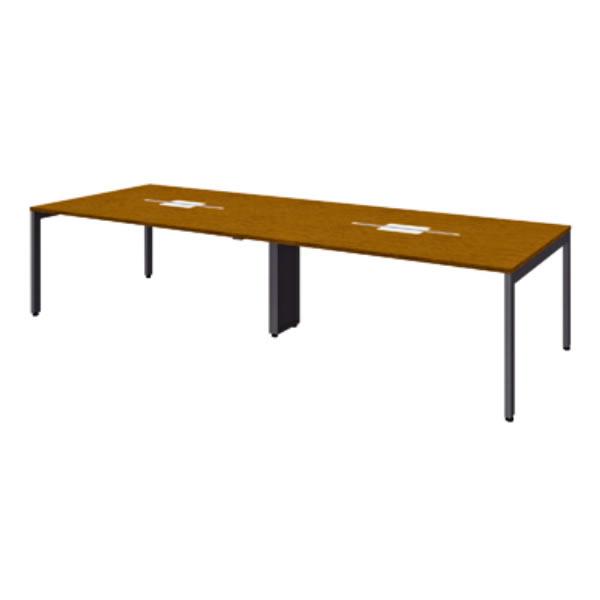 FV エフブイ 会議用テーブル 突板タイプ 幅3200×奥行1200×高さ720mm【FV-3212V】