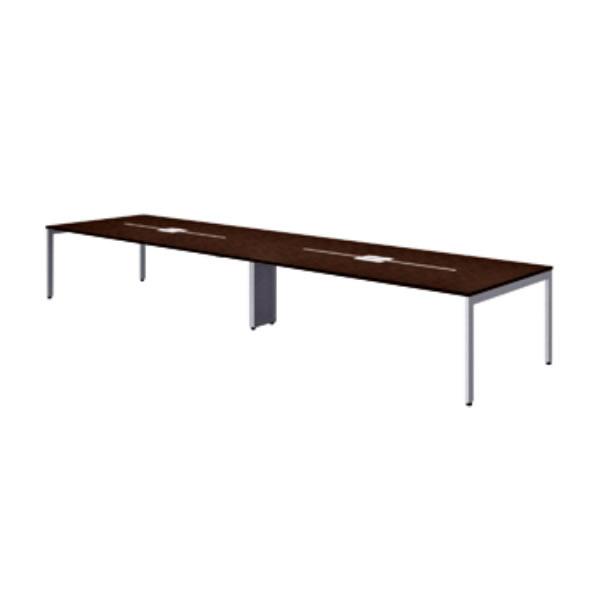 FV エフブイ 会議用テーブル メラミン天板タイプ マホガニーカラー 幅4000×奥行1200×高さ720mm【FV-4012M-LM】