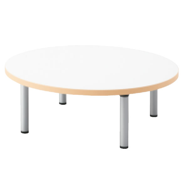 E5シリーズ テーブル 円形 アジャスター脚タイプ 幅1200×奥行1200×高さ320mm【OE-120HC-32】
