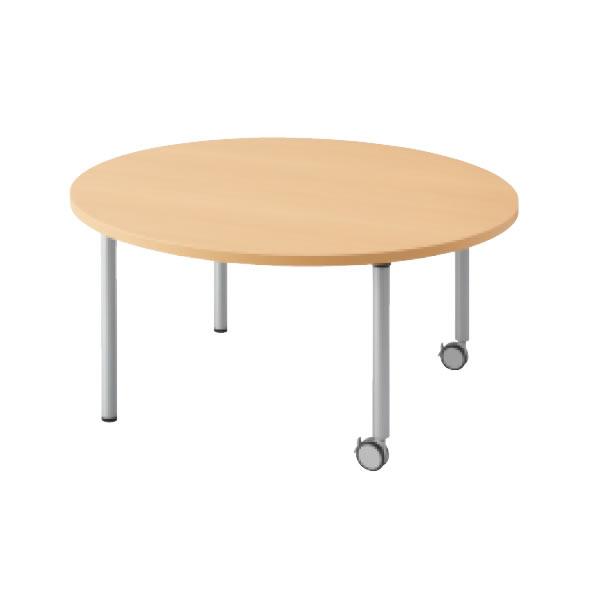 E5シリーズ テーブル 円形 片キャスター脚タイプ 幅900×奥行900×高さ700・640・580mm【OE-090HC】