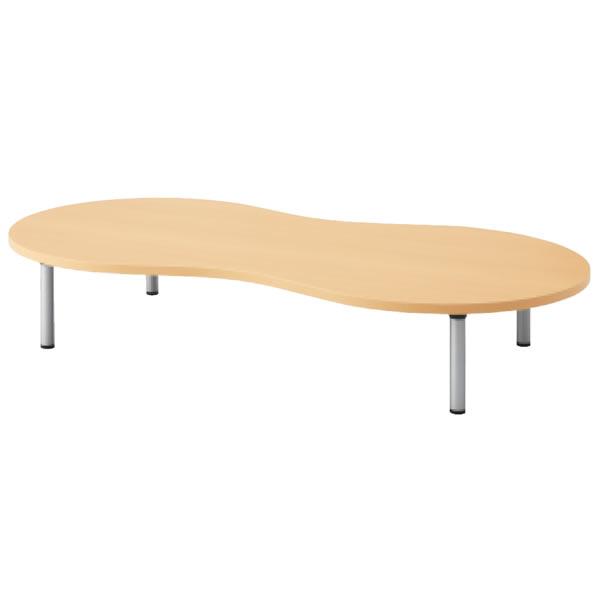 E5シリーズ テーブル ピーナッツ形 アジャスター脚タイプ 幅1800×奥行900×高さ320mm【OE-189HP-32】