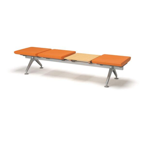コクヨ ロビーチェアー4700シリーズ 4連テーブル付きベンチ【CN-4704BT】