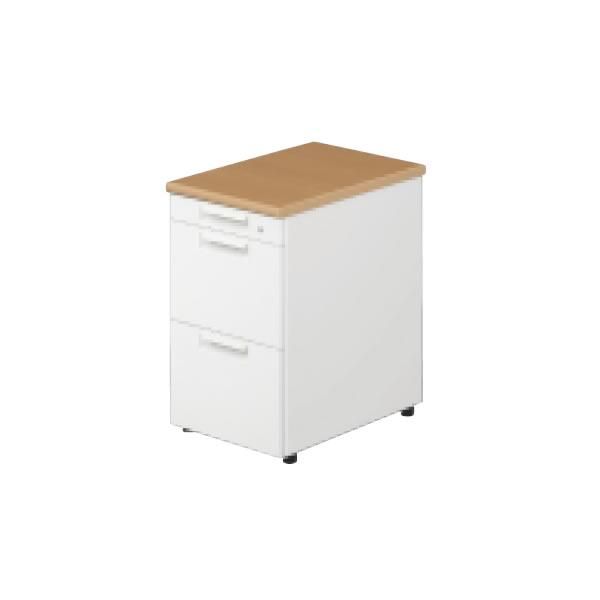 LEED Desk(リードデスク) デスクアクセサリー 脇机 A-3段 幅400×奥行600mm【LE-046A-3】