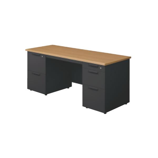 LEED Desk(リードデスク) 両袖机 (2段袖×D-3段袖) 幅1400×奥行600mm【LE-146D-32】